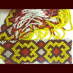 NEW! Tribal Design Beaded Necklace